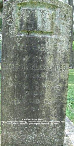 Abigail Bain <i>Caldwell</i> Alexander