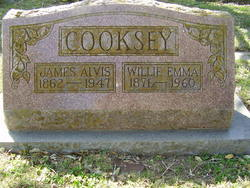 Willie Emma <i>Davis</i> Cooksey