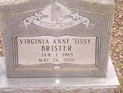 Virginia Anne Sissy <i>Mabry</i> Brister