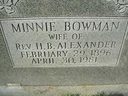Minnie <i>Bowman</i> Alexander