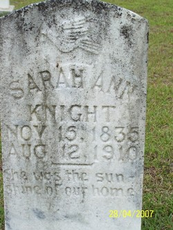 Sarah Ann <i>Welch</i> Knight