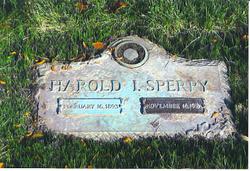 Harold I Sperry