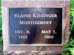 Evelyn Elaine <i>Kissinger</i> Montgomery