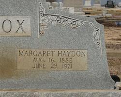 Margaret Haydon <i>Sharp</i> Cox