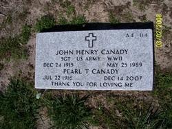 Sgt John Henry Canady
