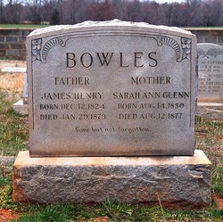 Sarah Ann <i>Glenn</i> Bowles