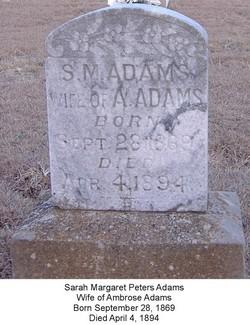 Sarah Margaret Dollie <i>Peters</i> Adams