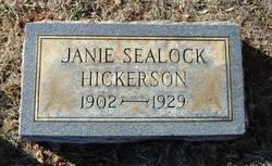Lonie Jane Janie <i>Sealock</i> Hickerson