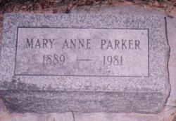Mary Anne Anne <i>Thayer</i> Parker