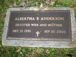Albertha B. Anderson
