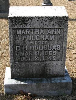 Martha Ann <i>Fulgham</i> Douglas