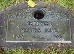 Martha Jane <i>Daniel</i> McKever