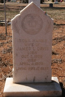 Irona Wealthy <i>Hanks</i> Davis