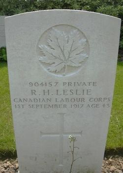 Pvt Robert Holmes Leslie