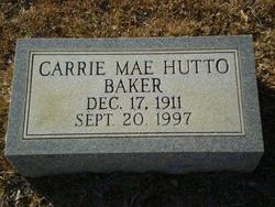 Carrie Mae <i>Hutto</i> Baker