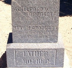 Mary Mahala <i>Reed</i> Crockett