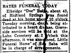 Elbridge Doc Bates