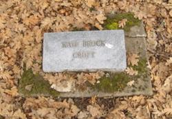 Catherine Mary Kate <i>Brock</i> Croft