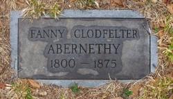 Fanny <i>Clodfelter</i> Abernethy