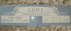 Ella Melissa <i>Holley</i> Lowe