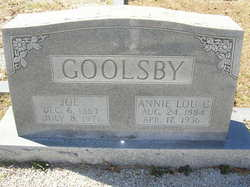 Annie Lou <i>Cartledge</i> Goolsby