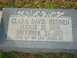 Clara <i>Davis</i> Hennen