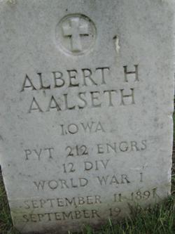 Pvt Albert H. Aalseth