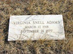 Virginia <i>Snell</i> Adams