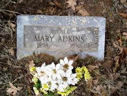 Mary <i>Carnes</i> Adkins