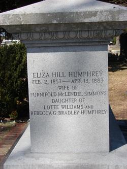 Eliza Hill <i>Humphrey</i> Simmons