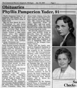 Phyllis <i>Pamperien</i> Yoder