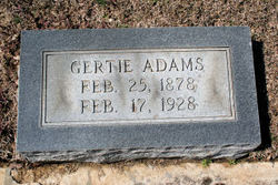 Gertie <i>Keith</i> Adams