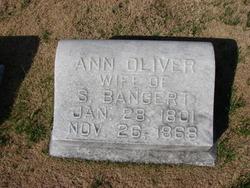 Ann <i>Oliver</i> Bangert