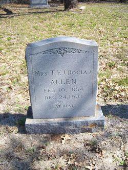 Docia <i>Grant</i> Allen