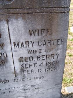 Mary <i>Carter</i> Berry