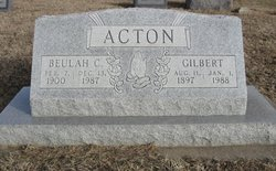 Beulah C. <i>Beaty</i> Acton