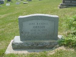 June <i>Randall</i> Johnson