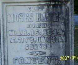 Capt Moses Bates