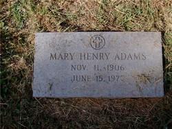 Mary Henry Adams