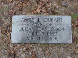Annie L. <i>Durant</i> Anderson