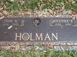 Wretha Elaine <i>Thompson</i> Holman