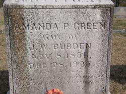 Amanda P <i>Green</i> Burden