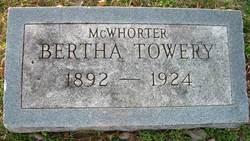 Bertha <i>McWhorter</i> Towery