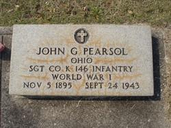 Sgt John G Pearsol