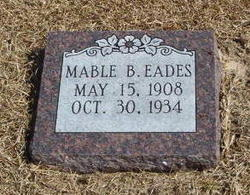 Mable Betty <i>Rackley</i> Eades