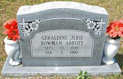 Geraldine Jerie <i>Bowman</i> Abbott
