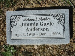 Jimmie Gayle <i>Morris</i> Anderson