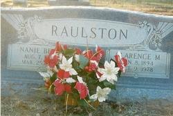 Nannie Bess <i>Yarbrough</i> Raulston