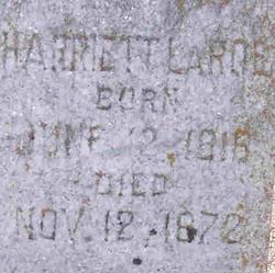 Harriett Elizabeth <i>Francisco</i> LaRoe