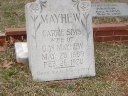 Carrie <i>Simms</i> Mayhew